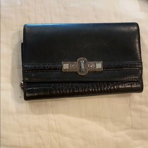 Brighton Crocodile Leather Wallet